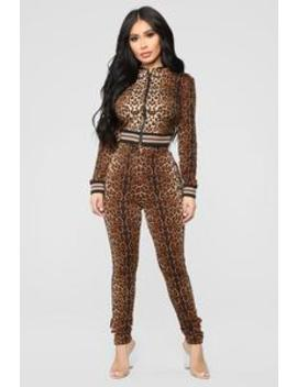 Can't Get Enough Lounge Set   Leopard by Fashion Nova