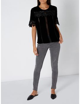 Velvet And Lace Top by Label Lab
