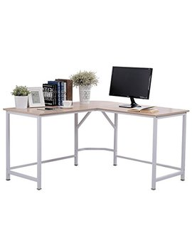 "Topsky Computer Desk 55"" X 55"" With 24"" Deep L Shaped Desk Corner Workstation Bevel Edge Design(Oak) by Topsky"