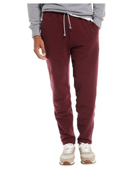 Men's Cotton Blend Drawstring Sweatpants by Brunello Cucinelli