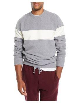 Men's Chest Stripe Sweatshirt by Brunello Cucinelli