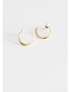 Trio Pearl Open Earrings by & Other Stories