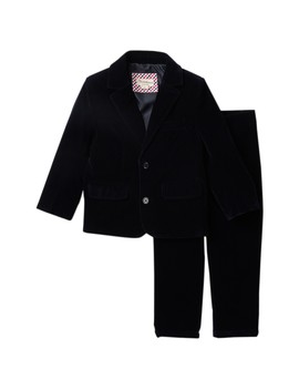 Velvet 2 Piece Suit (Toddler & Little Boys) by Beetle & Thread