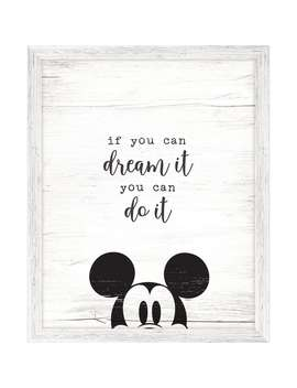 Mickey Mouse Framed ''dream It'' Wall Decor by Disney