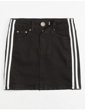 Almost Famous Side Stripe Girls Denim Skirt by Almost Famous