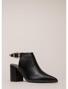 All In The Details Pointy Block Heels by Go Jane