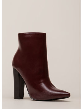 You Really Shine Pointy Chunky Booties by Go Jane