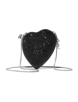 Love Box Crystal Embellished Leather Shoulder Bag by Saint Laurent