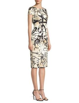 Alcali Printed Sheath Dress by Max Mara