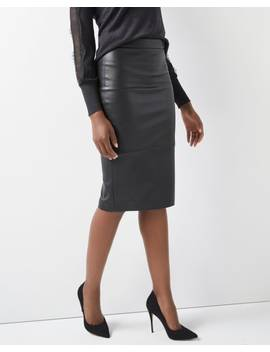 High Waist Faux Leather Pencil Skirt by Rw & Co
