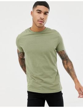 Pull&Bear Join Life Basic T Shirt In Khaki by Pull&Bear