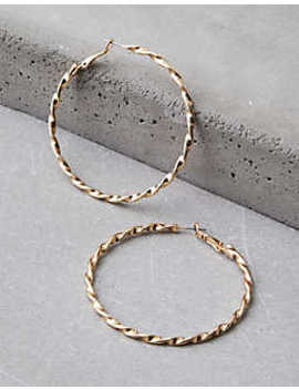 Aeo Twisted Hoop Earring by American Eagle Outfitters