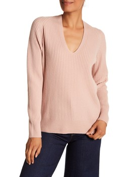 Wool & Cashmere Blend V Neck Sweater by Vince