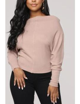 Off With Your Head Sweater   Taupe by Fashion Nova