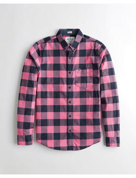 Stretch Poplin Slim Fit Shirt by Hollister