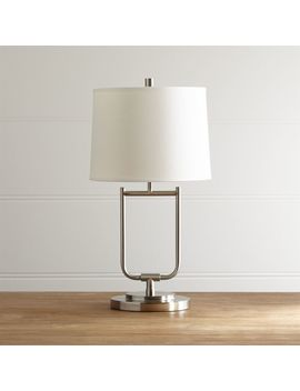 Stirrup Brushed Nickel Table Lamp by Crate&Barrel