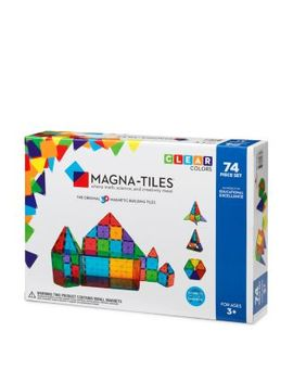 Clear Colors 74 Piece Set   Ages 3+ by Magna Tiles
