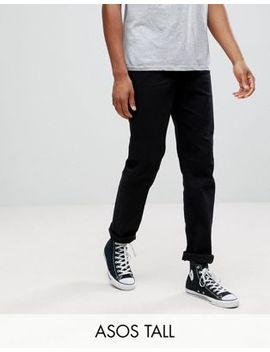 Asos Tall Stretch Slim Jeans In 12.5oz True Black by Asos