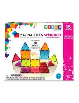 Magna Tiles 15 Piece Stardust Set – The Original, Award Winning Magnetic Building Tiles – Creativity & Educational – Stem Approved by Magna Tiles