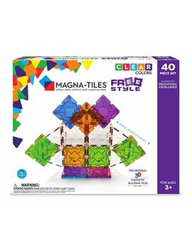 Magna Tiles 40 Piece Freestyle Set – The Original, Award Winning Magnetic Building Tiles – Creativity & Educational – Stem Approved by Magna Tiles