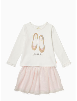 Toddler Glitter Flats Skirt Set by Kate Spade