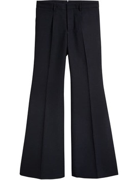Wool Twill Flared Tailored Trousers by Burberry