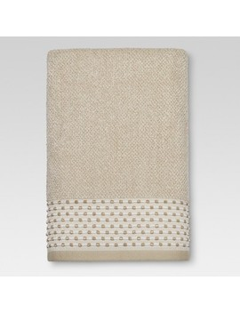 tan-dot-border-bath-towels---threshold by threshold