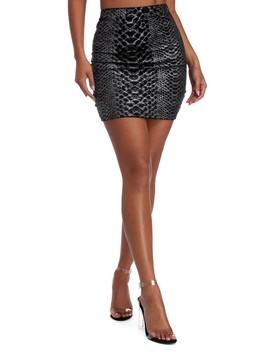 Snake It Off Mini Skirt by Windsor