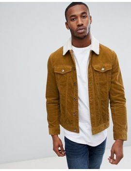 Pier One Cord Jacket In Tan by Pier One