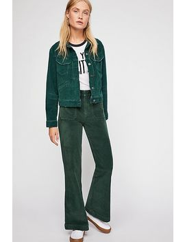Hip Hugging Flare Cord Trousers by Free People
