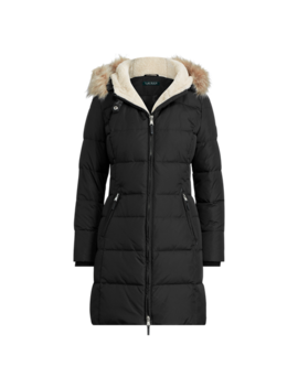 Faux Fur Trim Hooded Jacket by Ralph Lauren