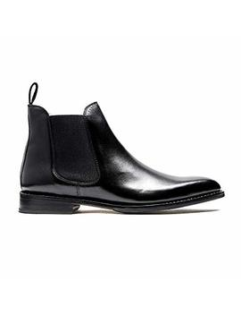 Timberlux New York Black Chelsea Calfskin Leather Boots, Men Leather Shoes by Timberlux New York