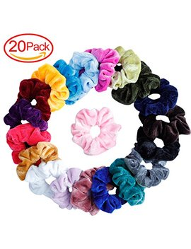 Mandydov 20 Pcs Hair Scrunchies Velvet Elastic Hair Bands Scrunchy Hair Ties Ropes Scrunchie For Women Or... by Mandydov