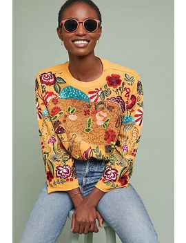 Beaded Elephant Pullover by Ugly Girl