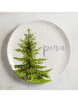 Christmas Tree Peace Salad Plate by Pier1 Imports