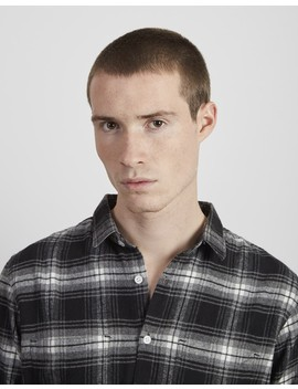 Flannel Check Shirt Black by The Idle Man