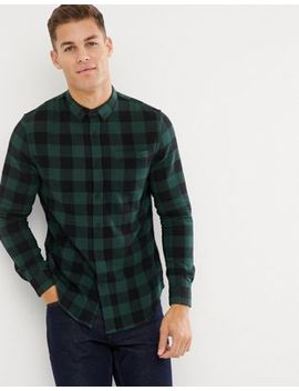 New Look Regular Fit Shirt In Khaki Check by New Look