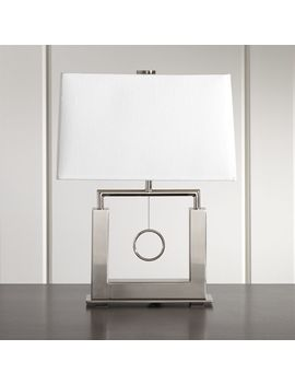 Charles Nickel Table Lamp by Crate&Barrel