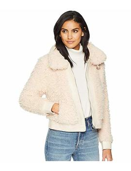 Shag Faux Fur Jacket In Cloud Nine by Blank Nyc