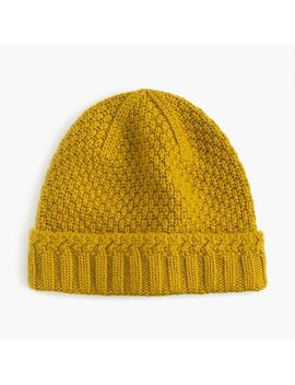 Cashmere Seedstitch Beanie by J.Crew