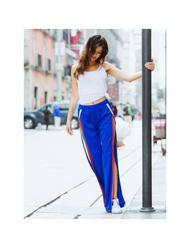 Vroom Tulip Athletic Pants In Blue by Wet Seal