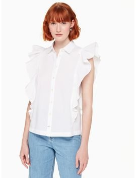 Flutter Button Down Top by Kate Spade