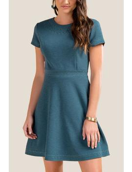 Emorie Textured Skater Dress by Francesca's