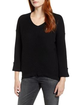 Cuff Sleeve V Neck Sweater by Caslon®