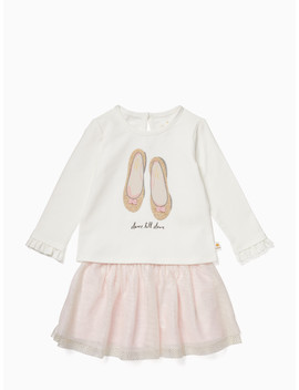 Infant Glitter Flats Skirt Set by Kate Spade