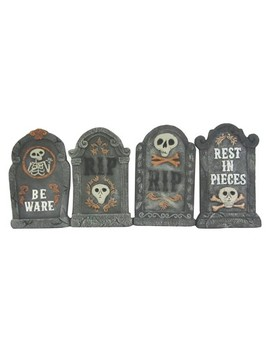 17'' Halloween Foam Tombstones Gray 4ct   Hyde And Eek! Boutique™ by Shop This Collection