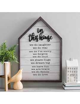 In This House Rules Wooden Plaque by Kirkland's
