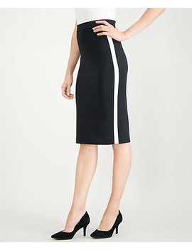 Side Stripe Midi Pencil Skirt, Created For Macy's by Alfani