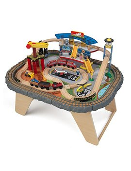 Kid Kraft 17564.0 Transportation Station Train Set And Table Toy by Kid Kraft