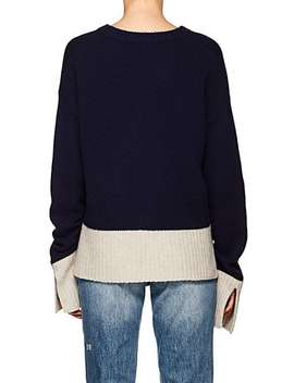 Wool Blend V Neck Sweater by Derek Lam 10 Crosby